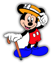Mickey Mouse Gentleman Cartoon Car Bumper Sticker Decal 4'' x 5''