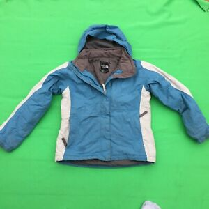 THE NORTH FACE junior girl's fashion blue hoodie jacket size--M