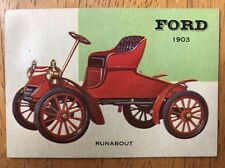 1954 Topps World of Wheels Ford 1903 Runabout #28 Automobile Trading Card