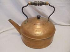 Vintage Primitive Farmhouse Copper Antique Water Tea Pot Kettle w/ Bail Handle