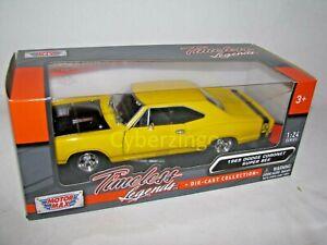 1969 Dodge Coronet Super Bee Yellow Motor Max 1:24 Diecast Model Car New IN BOX