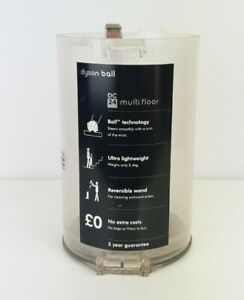 Genuine Dyson DC24, DC24i,Clear Dust Bin Assembly Vacuum Cleaner Part Used Dirty