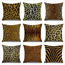Art Animal Leopard Print Pillow Case Sofa Waist Throw Cushion Cover Home Decor