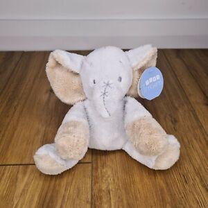 TINY TREASURES Blue Elephant Plush Toy (BNWT) Card Factory Baby Soft *Free P&P*
