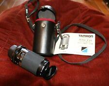 Vintage Tamron Adaptall 2 Tele-Macro Zoom Camera Lens - Model 20A Case & Manual