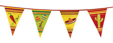 Mexican Fiesta Sombrero Chilli Maracas Cactus Partyware Decoration Flag Bunting