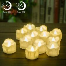 Timer Candles 12pcs PChero Battery Operated LED Decorative Flameless Candles