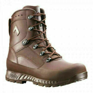 BRITISH ARMY HAIX Combat High Liability Brown Boots Leather Cadet, Male & Female
