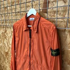 £395 Stone Island light zip overshirt L LARGE orange shirt jacket Shadow