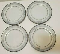 "Set of 4 Noritake Lancashire 3883 Saucers 6.5"" wide"