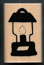GAS LANTERN FLAME Mantle Camping Out Camp Gear JRL Design New Hobby RUBBER STAMP