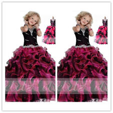 Hot In Stock Beads Flower Girl Dress Formal Pageant Prom Ball Gowns Size10/12
