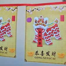 chinese new year bunting garland asian oriental hanging party decoration banner