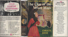 NANCY DREW #30 CLUE OF THE VELVET MASK w/DJ 1953A-1 VERY RARE 1ST/1ST