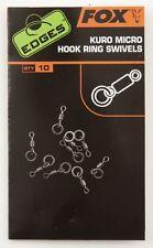 Fox Edges Micro Hook Ring Swivels Wirbel - 10 Stück Fox Wirbel mit Ring für Rigs