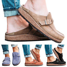 Womens Slip On Flat Loafers Mules Slippers Summer Closed Toe Comfy Pumps Shoes