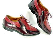 RARE Antonio Cerrelli Elite Men's Blood Red Faux Aligator Skin Dress Shoes Sz12M