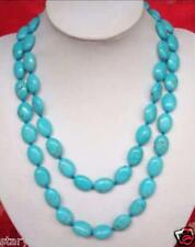 "New 13x18MM Turkey natural blue turquoise Necklace 35 "" AAA"