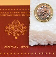 VATICAN 2008 : pièce 1 euro du BU