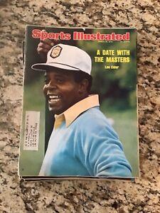 March 10 1975 Lee Elder Augusta Masters Golf Sports Illustrated Magazine Vintage