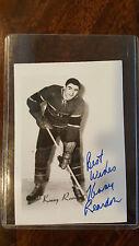 KENNY KEN REARDON SIGNED PHOTO CARD MONTREAL CANADIENS HOCKEY HALL OF FAME HOF