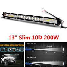 "13"" Slim 10D 200W LED Light Spot Flood Beam Work Light Bar For Jeep ATV Off-Road"