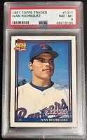 Ivan Rodriguez 1991 Topps Traded #101T Rookie Card - PSA 8 RC Texas Rangers HOF