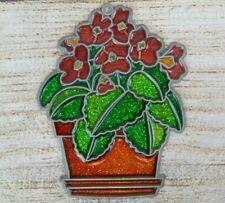 Vintage Suncatcher Potted Flowers Window Decoration Ornament Flower Pot