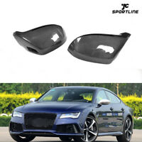 Mirror Cover Cap fit for AUDI A7 S7 RS7 11-17 with side lane assist Carbon Fiber
