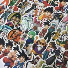 50 PCS Animé Dragon Ball Super Saiyan PVC Autocollants pour Planche Coussin