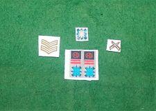 1/6 Ww2 Britsh 51a Highland división Negro Reloj conjunto de parches y insignia metálica cap