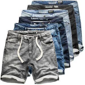 Sublevel Herren Jogging Shorts Freizeit Bermuda kurze Hose Jeans Sweat Denim