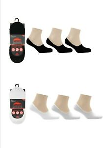 Ladies Invisible Trainer Sock No Show Shoe Liner Anti Slip Heel Grip Silicone