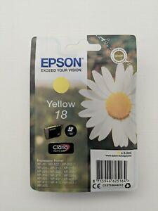 Genuine EPSON 18 Yellow Daisy Ink Cartridge!!!