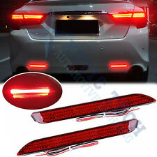 Rear Bumper Reflector RED Lens Brake LED Light For Sienna Venza Avalon, IS-F RC