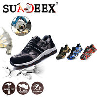 Scarpe da lavoro antinfortunistica uomo S3 Sneaker tappo in acciaio impermeabili