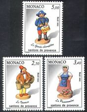 MONACO 1992 Noël/Crib figures/figurines/gendarme/Poisson vendeur 3 V Set n40250