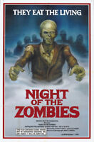 Night of the Zombies cult horror movie poster print
