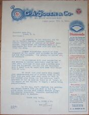 1916 Letterhead: G. A. Soden Jewelry & Watches- Chicago, Illinois w/Pocket Watch