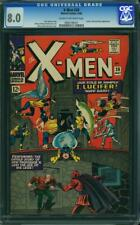 X-Men #20 CGC 8.0 -- 1966 -- Lucifer Blob Magneto. Prof X lost legs. #0966198001