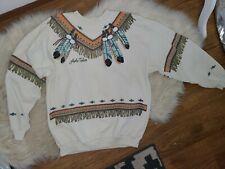 Vintage 1990s Lifestyles Lake Tahoe Sweatshirt, Southwestern Native Print