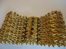 Georgian Pinchbeck Bracelet-REGARD CLASP-Stunning, Big and chunky******