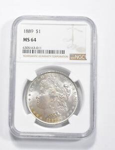 MS64 GRADED - 1889 Morgan Silver Dollar- NGC *290