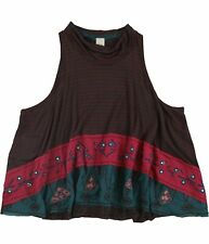 Free People Womens North South Tank Top, red, Medium