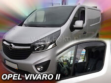 VAUXHALL VIVARO MK2 2014-onwards 2-pc Wind Deflectors HEKO Tinted