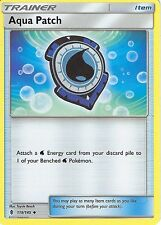 4 X POKEMON SUN & MOON GUARDIANS RISING CARD: AQUA PATCH - 119/145