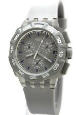 New Swatch Gray Hero Chronograph Date Men Watch 44mm SUIM402 $120