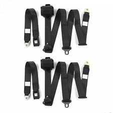 Camaro 1970 - 1981 Standard 3pt Black Retractable Bucket Seat Belt Kit - 2 Belts