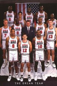 The Dream Team 1992 Mens Olympic Basketball Poster 24x36