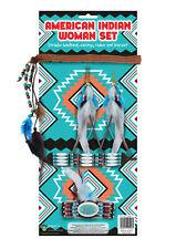 Native American Indian Woman 5 Piece Fancy Dress Costume Set Book Week Girl Hero